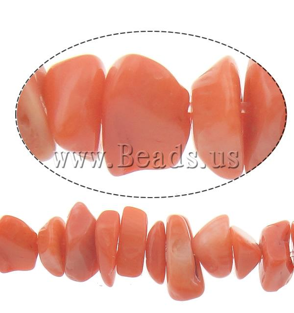 Buy Natural Coral Beads Nuggets reddish orange 8-13mm Hole:Approx 0.5mm Length:Approx 33 Inch 10Strands/Lot Approx 320PCs/Strand Sold Lot