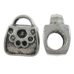 Zinklegierung Perlen Einstellung, Handtasche, antik silberfarben plattiert, frei von Nickel, Blei & Kadmium, 9x11x7mm, Bohrung:ca. 2x4.5mm, 10PCs/Tasche, verkauft von Tasche