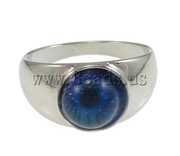 Buy Mood Finger Ring Brass platinum color plated change color according temperature & mixed nickel lead & cadmium free 8mm Inner Diameter:Approx 17mm US Ring Size:6.5 100PCs/Bag Sold Bag