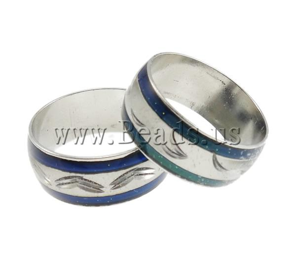Buy Mood Finger Ring Brass platinum color plated change color according temperature & mixed nickel lead & cadmium free 9mm Inner Diameter:Approx 17mm US Ring Size:6.5 100PCs/Bag Sold Bag