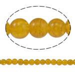 Knistern Glasperlen, Glas, rund, gelb, 8mm, Bohrung:ca. 1.5mm, Länge:ca. 31.4 ZollInch, 10SträngeStrang/Tasche, verkauft von Tasche