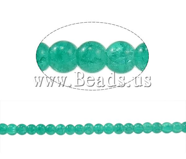 Buy Crackle Glass Beads Round dark green 6mm Hole:Approx 1mm Length:Approx 31.4 Inch 10Strands/Bag Sold Bag