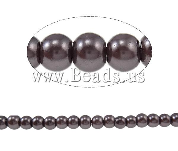 Stoving Varnish Glass Beads Round deep coffee color 4mm Hole:Approx 1mm Length:Approx 32 Inch 10Strands/Bag Sold Bag