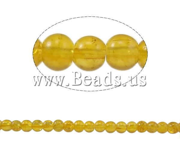 Buy Crackle Glass Beads Round yellow 4mm Hole:Approx 1mm Length:Approx 31.4 Inch 10Strands/Bag Sold Bag