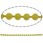 Eiserne Kugelkette, Eisen, Elektrophorese, gelb, frei von Nickel, Blei & Kadmium, 1.5mm, Länge:ca. 100 m