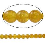 Knistern Glasperlen, Glas, rund, gelb, 10mm, Bohrung:ca. 1.5mm, Länge:ca. 31.4 ZollInch, 10SträngeStrang/Tasche, verkauft von Tasche