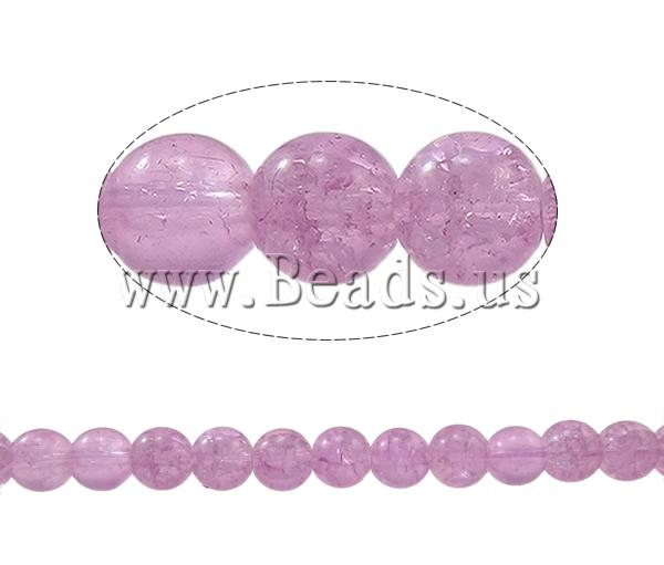 Crackle Glass Beads Round light purple 8mm Hole:Approx 1mm Length:Approx 30.7 Inch 10Strands/Bag Sold Bag