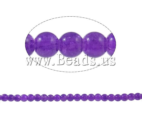 Crackle Glass Beads Round purple 6mm Hole:Approx 1.5mm Length:Approx 32 Inch 10Strands/Bag Sold Bag