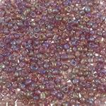 Transparente Glas Rocailles, Glas-Rocailles, rund, Regenbogen, transluzent, hellviolett, 2x1.9mm, Bohrung:ca. 1mm, ca. 45000PCs/Tasche, verkauft von Tasche