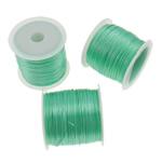 Elastisches Garn, elastischer Faden, Korea importiert, grün, 0.5mm, Länge:ca. 1750 m, 25PCs/Tasche, verkauft von Tasche