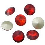 Kristall Eisen auf Nagelkopf, flache Runde, Rivoli-Rückseite & facettierte, Siam, 12x12x6mm, 288PCs/Tasche, verkauft von Tasche