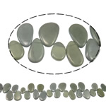 Tropfen Kristallperlen, Kristall, bunte Farbe plattiert, 16-25mm, Bohrung:ca. 1mm, ca. 41PCs/Strang, verkauft per ca. 15.3 ZollInch Strang