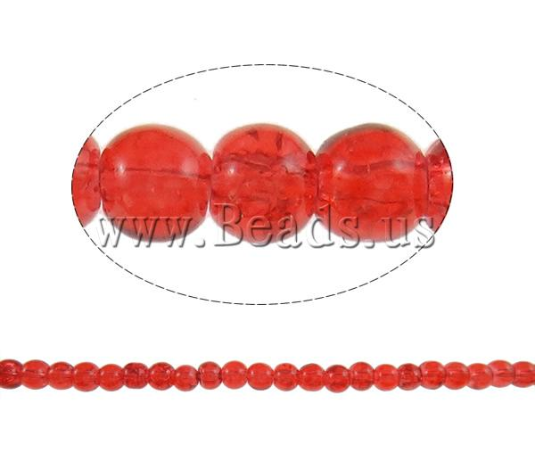 Buy Crackle Glass Beads Round red 4mm Hole:Approx 1mm Length:Approx 32.5 Inch 10Strands/Bag Sold Bag