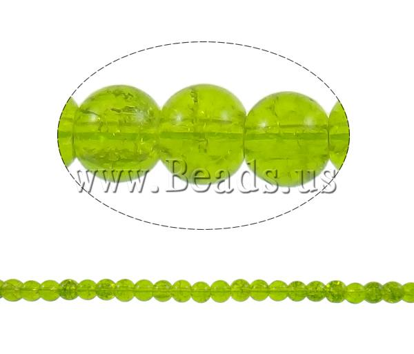 Buy Crackle Glass Beads Round apple green 6mm Hole:Approx 1mm Length:Approx 32.2 Inch 10Strands/Bag Sold Bag