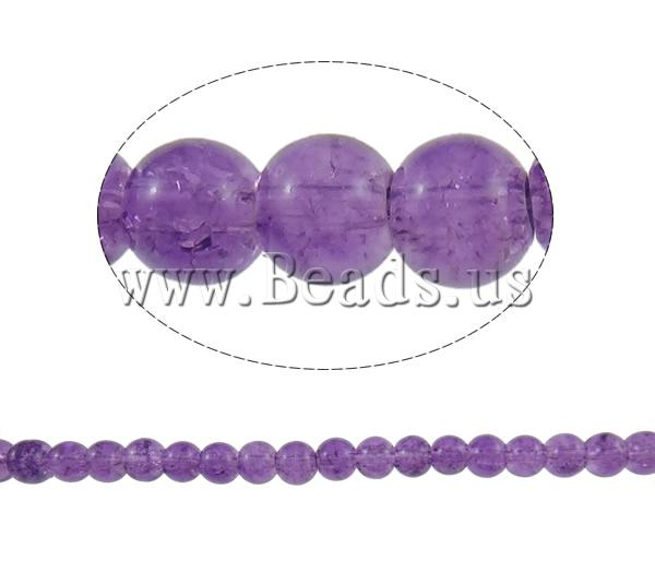 Buy Crackle Glass Beads Round purple 6mm Hole:Approx 1mm Length:Approx 31.5 Inch 10Strands/Bag Sold Bag