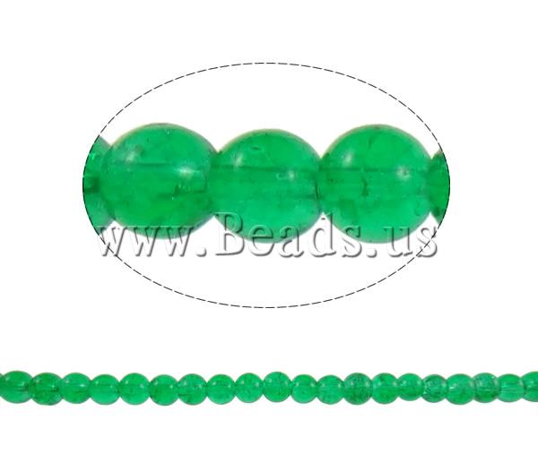 Buy Crackle Glass Beads Round green 6-7.5mm Hole:Approx 1mm Length:Approx 31.5 Inch 10Strands/Bag Sold Bag