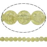 Knistern Glasperlen, Glas, rund, Sahnegelb, 10mm, Bohrung:ca. 1mm, Länge:ca. 31.5 ZollInch, 10SträngeStrang/Tasche, verkauft von Tasche