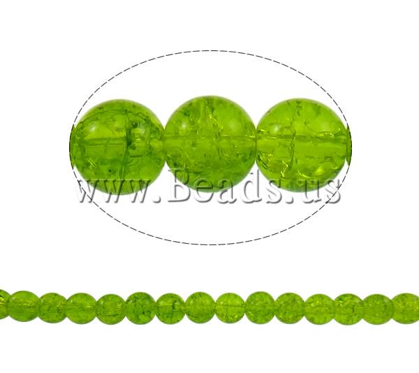 Buy Crackle Glass Beads Round olive green 10mm Hole:Approx 1.5mm Length:Approx 31.5 Inch 10Strands/Bag Sold Bag
