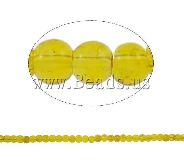 Buy Crackle Glass Beads Round yellow 4mm Hole:Approx 1mm Length:Approx 31.5 Inch 10Strands/Bag Sold Bag