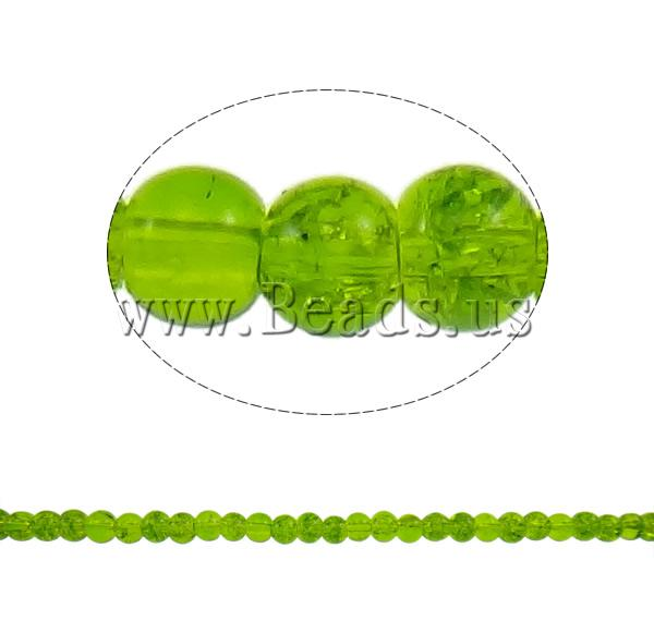 Buy Crackle Glass Beads Round apple green 4mm Hole:Approx 1mm Length:Approx 31.5 Inch 10Strands/Bag Sold Bag