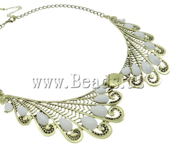 Buy Zinc Alloy Jewelry Necklace Resin & Iron zinc alloy lobster clasp 6 cm extender chain Wing Shape antique bronze color plated nickel lead & cadmium free 50x105x5mm Sold Per Approx 18 Inch Strand