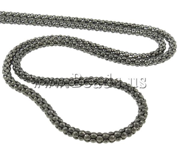 Buy Iron Necklaces zinc alloy lobster clasp 7cm extender chain plumbum black color plated nickel lead & cadmium free 4.1mm Length:Approx 25 Inch 20Strands/Bag Sold Bag