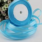 Satinband, himmelblau, 25mm, 10PCs/Menge, verkauft von Menge