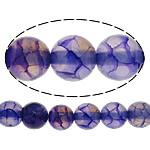 Natürliche Drachen Venen Achat Perlen, Drachenvenen Achat, rund, violett, 6mm, Bohrung:ca. 1mm, Länge:ca. 15 ZollInch, 20SträngeStrang/Menge, ca. 65PCs/Strang, verkauft von Menge