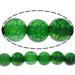 Natürliche Drachen Venen Achat Perlen, Drachenvenen Achat, rund, grün, 8mm, Bohrung:ca. 1mm, Länge:ca. 15 ZollInch, 10SträngeStrang/Menge, ca. 48PCs/Strang, verkauft von Menge