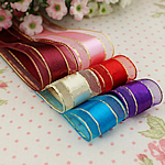Satinband, gemischte Farben, 25mm, 5PCs/Menge, verkauft von Menge