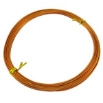 Aluminium Draht, Elektrophorese, Orange, 1mm, Länge:ca. 100 m, 10PCs/Tasche, verkauft von Tasche