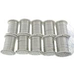 Kupferdraht, Kupfer, mit Kunststoffspule, silberfarben plattiert, 0.30mm, Länge:10 m, 10PCs/Menge, verkauft von Menge