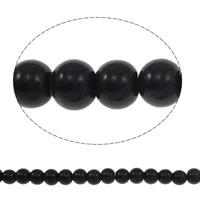 Runde Kristallperlen, Kristall, Jet schwarz, 6mm, Bohrung:ca. 1.5mm, Länge:11.5 ZollInch, 10SträngeStrang/Tasche, verkauft von Tasche