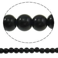 Runde Kristallperlen, Kristall, Jet schwarz, 8mm, Bohrung:ca. 1.5mm, Länge:ca. 12 ZollInch, 10SträngeStrang/Tasche, verkauft von Tasche