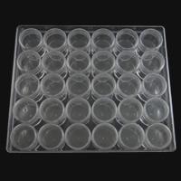 Schmuck Nagelkasten, Kunststoff, Rechteck, transluzent, weiß, 160x135x35mm, 30PCs/Box, verkauft von Box