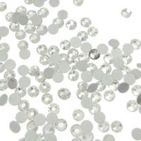 Kristall Eisen auf Nagelkopf, Dom, flache Rückseite & facettierte, Kristall, Grade A, 2.4-2.5mm, 10Grosses/Tasche, 144PCs/brutto, verkauft von Tasche