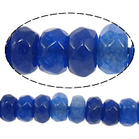 Marmor Naturperlen, gefärbter Marmor, Rondell, facettierte, blau, 2x4mm, Bohrung:ca. 0.5mm, Länge:ca. 15 ZollInch, 10SträngeStrang/Menge, 160PCs/Strang, verkauft von Menge