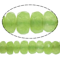 Marmor Naturperlen, gefärbter Marmor, Rondell, facettierte, grün, 2x4mm, Bohrung:ca. 0.5mm, Länge:ca. 15 ZollInch, 10SträngeStrang/Menge, ca. 160PCs/Strang, verkauft von Menge