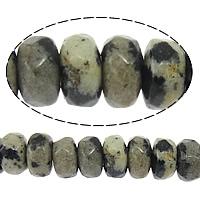 Dalmatinische Perlen, Dalmatiner, Rondell, facettierte, 2x4mm, Bohrung:ca. 0.5mm, Länge:ca. 15 ZollInch, 10SträngeStrang/Menge, ca. 160PCs/Strang, verkauft von Menge