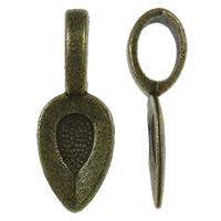 Zinklegierung Kleben Schmucköse, antike Bronzefarbe plattiert, frei von Nickel, Blei & Kadmium, 8x21x6mm, Bohrung:ca. 4x6mm, ca. 1665PCs/kg, verkauft von kg
