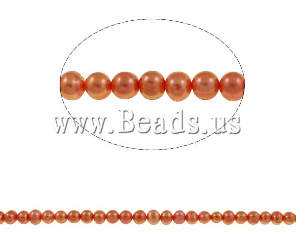 Buy Cultured Potato Freshwater Pearl Beads reddish orange 7-8mm Hole:Approx 0.8mm Sold Per Approx 14.7 Inch Strand