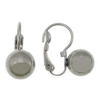 Edelstahl Hebel Rückseiten Ohrring, originale Farbe, 8x17mm, 200PaarePärchen/Menge, verkauft von Menge