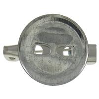 Eisen Broschen Zubehöre, flache Runde, metallschwarz plattiert, frei von Nickel, Blei & Kadmium, 20x15x6mm, 1000PCs/Tasche, verkauft von Tasche