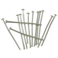 Eisen Kopfstifte, Platinfarbe platiniert, frei von Nickel, Blei & Kadmium, 0.8x20mm, ca. 6250PCs/Tasche, verkauft von Tasche