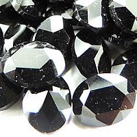 Kristall Eisen auf Nagelkopf, oval, Rivoli-Rückseite & facettierte, Jet schwarz, 13x18mm, 168PCs/Tasche, verkauft von Tasche