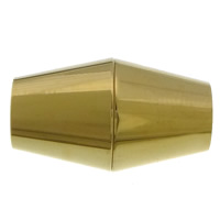 Edelstahl Magnetverschluss, 304 Edelstahl, Doppelkegel, goldfarben plattiert, 17x10mm, Bohrung:ca. 5mm, 50PCs/Menge, verkauft von Menge