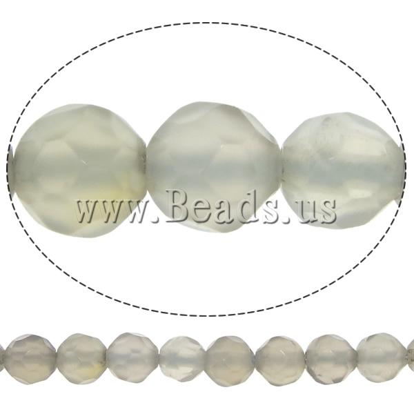 Natural Grey Agate Beads Round faceted 4mm Hole:Approx 0.5mm Length:Approx 14.5 Inch 20Strands/Lot 92/Strand Sold Lot