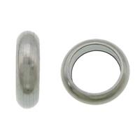 Edelstahl-Perlen mit großem Loch, 304 Edelstahl, Kreisring, großes Loch, originale Farbe, 1.20x4mm, Bohrung:ca. 2.8mm, 1000PCs/Menge, verkauft von Menge