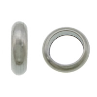 Edelstahl-Perlen mit großem Loch, 304 Edelstahl, Kreisring, großes Loch, originale Farbe, 3x8mm, Bohrung:ca. 5.5mm, 1000PCs/Menge, verkauft von Menge