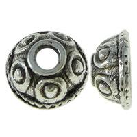 Zinklegierung Perlenkappe, Dom, antik silberfarben plattiert, frei von Nickel, Blei & Kadmium, 8x3.5mm, Bohrung:ca. 2mm, ca. 5000PCs/kg, verkauft von kg